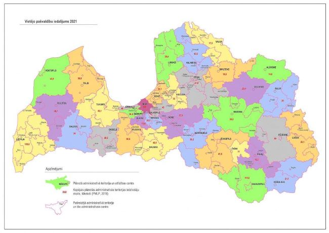 Latvian Regional Development Ministry proposes map with 35 local ...