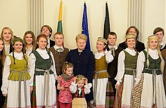 Grybauskaite visits Lithuanian February 16 High School in ...