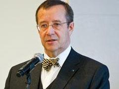The Estonian President Toomas Hendrik Ilves