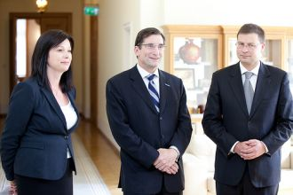 Robert Greifeld and Valdis Dombrovskis. Riga, 27.06.2012. Photo: flickr.com