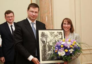 Valdis Dombrovskis and Judith Garber. Riga, 5.07.2012. Photo: flickr.com