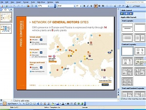 Network of General Motors sites