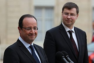 Francois Hollande and Valdis Dombrovskis. Paris, 19.04.2013. Photo: flickr.com