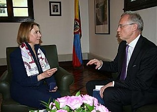 Monica Lanzetta and Andris Teikmanis. Bogota, 18.04.2013. Photo: flickr.com