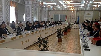 At the Estonian-Tajikistan economic forum in Dushanbe. Photo: valitsus.ee