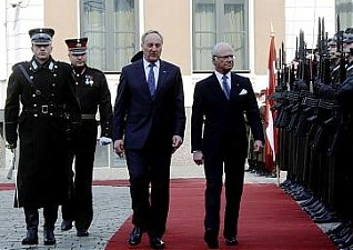 Andris Berzins and His Majesty King of Sweden Carl XVI Gustaf. Riga, 26.03.2014. Photo: president.lv