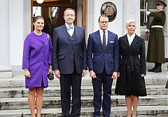 Swedish crown princess Victoria meets with Estonian state leaders