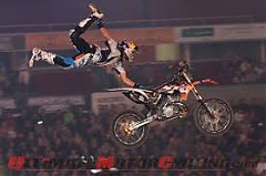 Skrastins wins Best Whip contest at Round 8 of Freestyle Motocross World Championship in Riga
