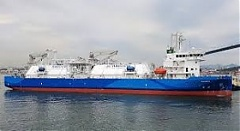 LNG bunker vessel Kairos performing its 3rd LNG reload operation in Klaipeda