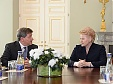 Grybauskaite discussed illegal work issues with head of International Labour Organisation
