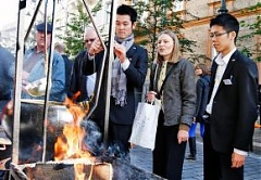 In Lithuania, Japanese tourists feel at home