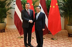Vejonis in China emphasizes Latvia's growth potential in logistics, IT and telecommunications