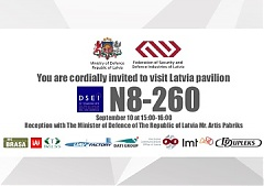 Pavilion of Latvian Defence Industry will be unveiled in London