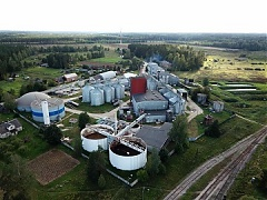 The Kalsnava Distillery alcohol manufacturing plant adjusted its manufacturing to produce alcohol for disinfectants manufactured in Latvia