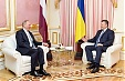 Berzins and Yanukovych express support for further strengthening relations between Ukraine and EU