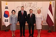 President urges businessmen to use potential of Latvian-South Korean relations