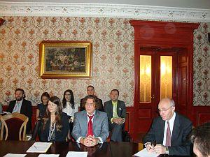 На презентации Волынской области в посольстве Украины в Латвии. Рига, 20.09.2012.