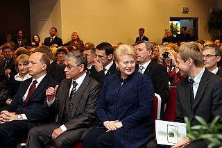 Даля Грибаускайте на обрании судей в Каунасе, 9.11.2012. Фото: president.lt